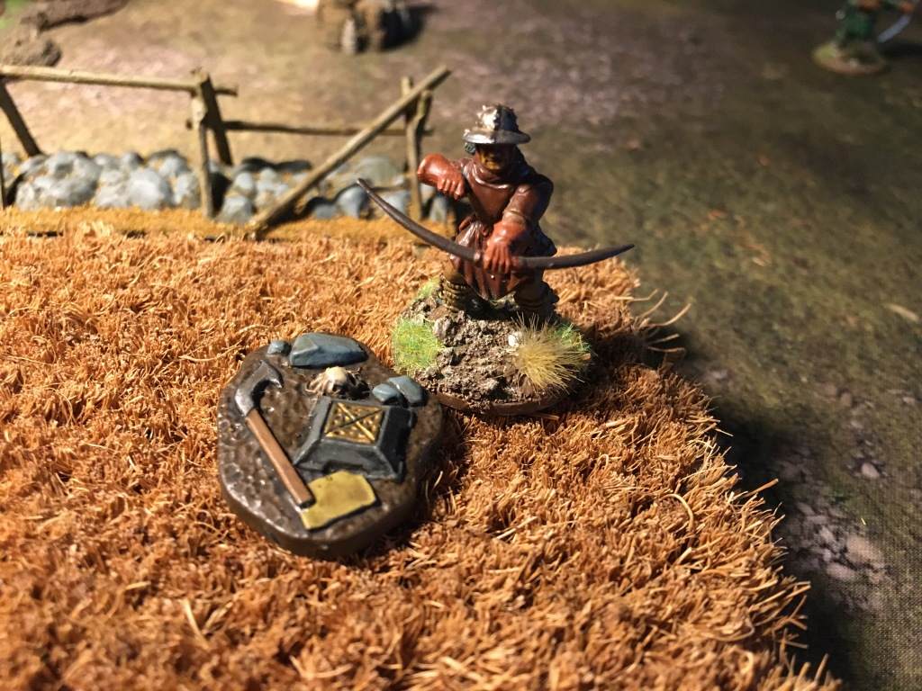 Next to the body of a fallen man, Red finds an exquisite crossbow